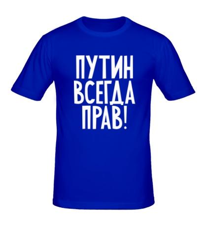 Мужская футболка Путин прав