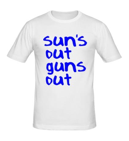Мужская футболка Suns out guns out