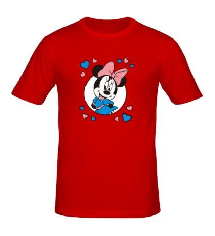 Мужская футболка Влюбленная Минни Маус