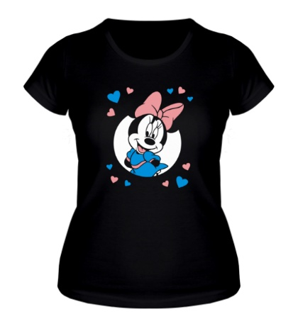 Женская футболка Влюбленная Минни Маус