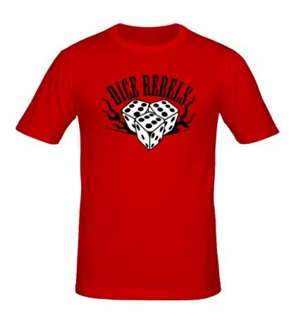 Мужская футболка Dice Rebels Rock