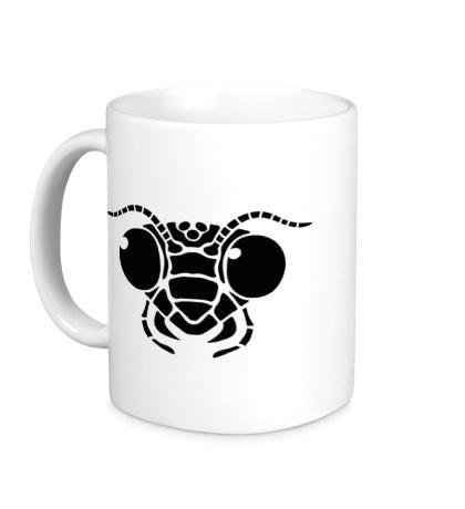 Керамическая кружка Голова муравья