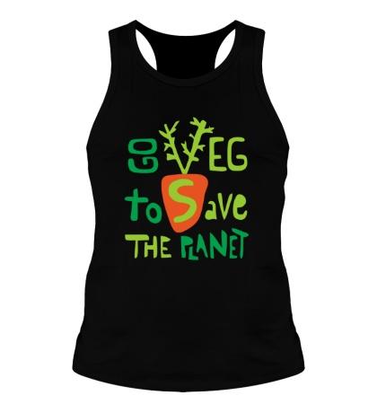 Мужская борцовка Go veg to save the planet