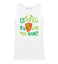 Мужская майка Go veg to save the planet