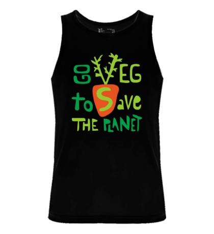 Мужская майка Go veg to save the planet