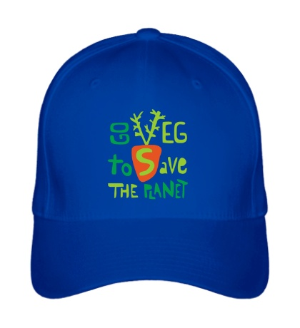 Бейсболка «Go veg to save the planet»