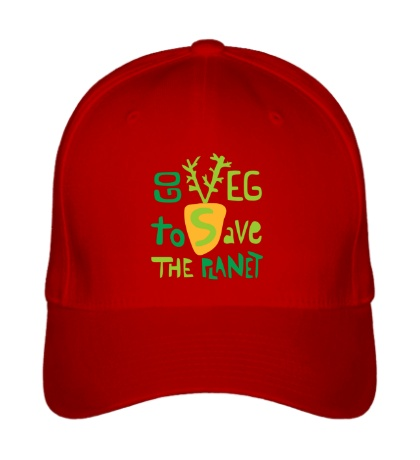 Бейсболка Go veg to save the planet