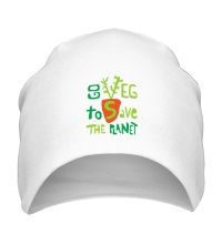 Шапка Go veg to save the planet