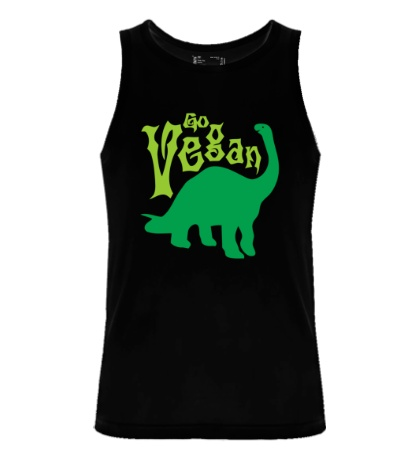 Мужская майка «Go vegan»
