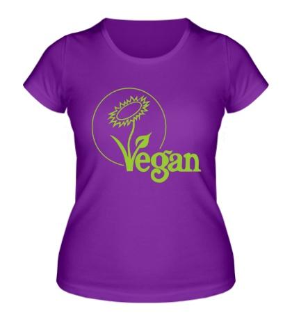 Женская футболка «Vegan»
