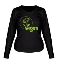 Женский лонгслив Vegan