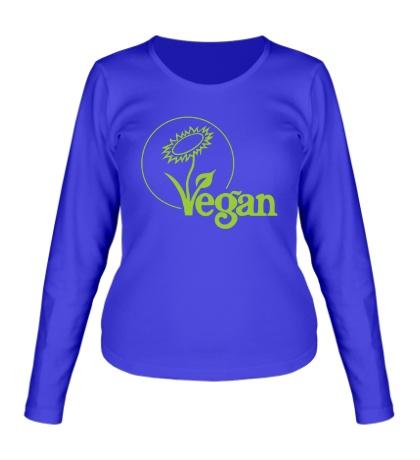 Женский лонгслив «Vegan»