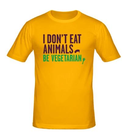 Мужская футболка «Be Vegetarian»