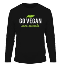 Мужской лонгслив Go Vegan Save Animals