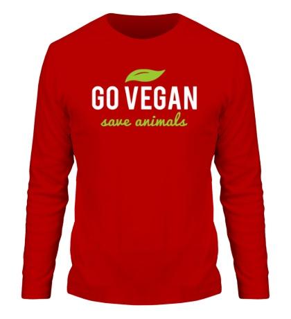 Мужской лонгслив Go Vegan Save Animals
