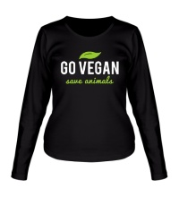 Женский лонгслив Go Vegan Save Animals