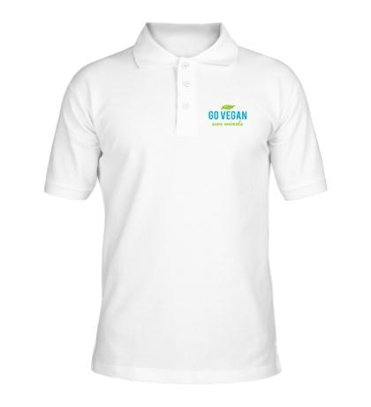Рубашка поло Go Vegan Save Animals