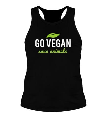 Мужская борцовка Go Vegan Save Animals
