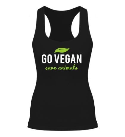 Женская борцовка Go Vegan Save Animals