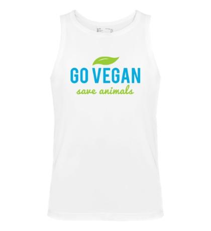 Мужская майка Go Vegan Save Animals