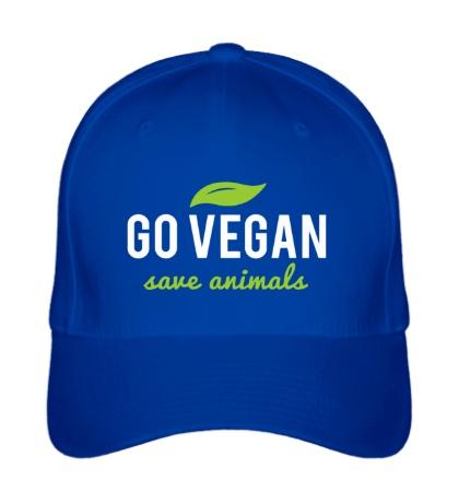 Бейсболка Go Vegan Save Animals