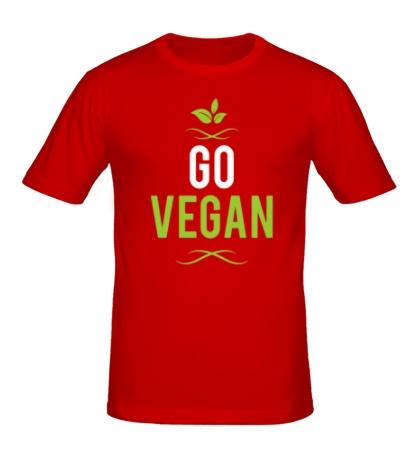 Мужская футболка «Go Vegan»