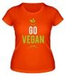 Женская футболка «Go Vegan» - Фото 1