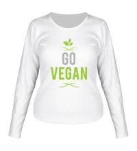Женский лонгслив Go Vegan