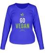 Женский лонгслив «Go Vegan» - Фото 1