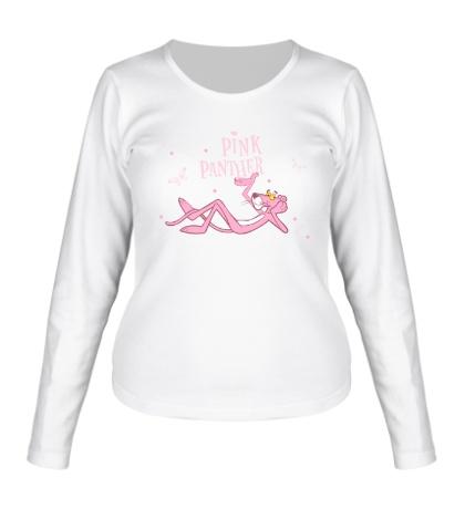 Женский лонгслив Розовая пантера отдыхает