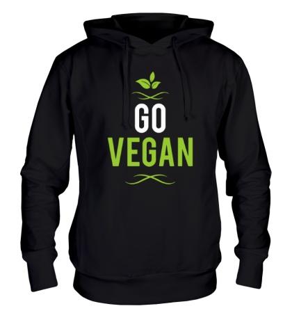 Толстовка с капюшоном Go Vegan