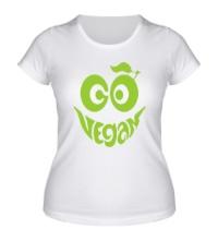 Женская футболка Vegan smile
