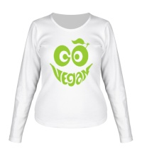 Женский лонгслив Vegan smile