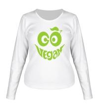 Женский лонгслив Vegan smile