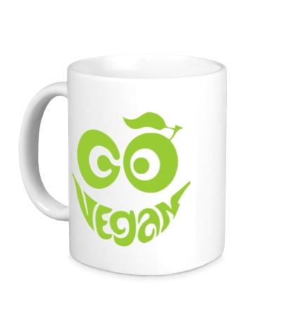 Керамическая кружка Vegan smile