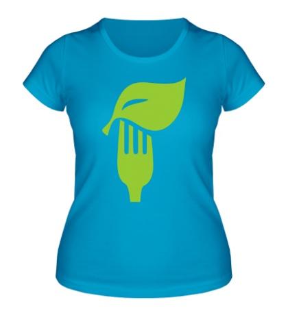 Женская футболка «Eat vegetables»