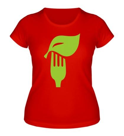 Женская футболка Eat vegetables
