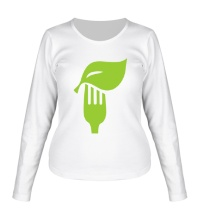 Женский лонгслив Eat vegetables