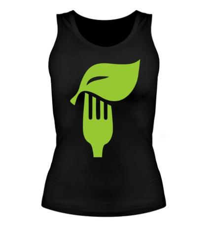 Женская майка «Eat vegetables»