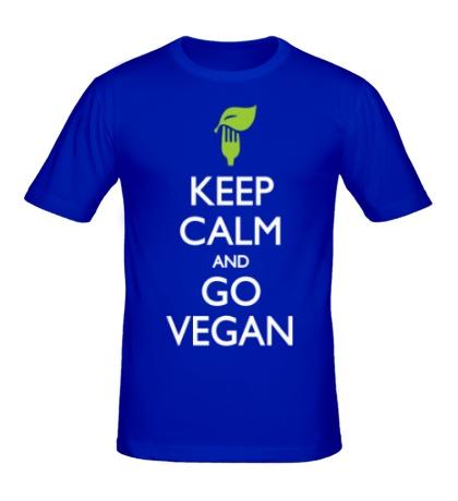Мужская футболка Keep Calm and go Vegan