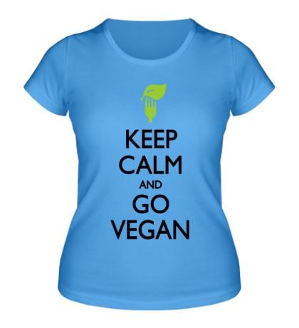 Женская футболка Keep Calm and go Vegan