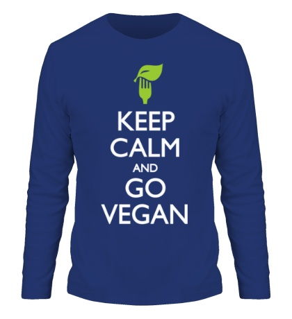 Мужской лонгслив Keep Calm and go Vegan