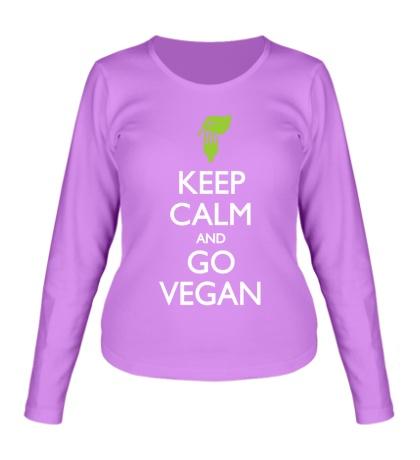 Женский лонгслив Keep Calm and go Vegan