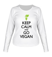 Женский лонгслив Keep Calm and go Vegan