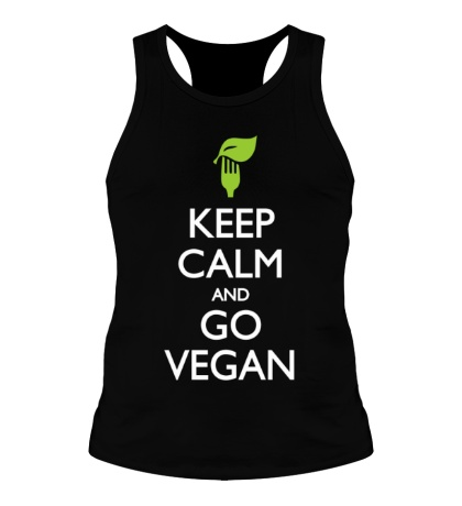 Мужская борцовка Keep Calm and go Vegan
