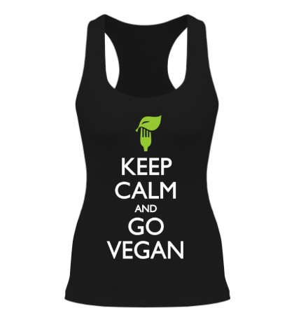 Женская борцовка «Keep Calm and go Vegan»