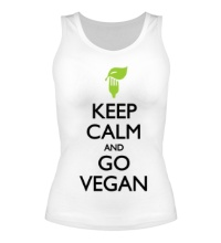 Женская майка Keep Calm and go Vegan