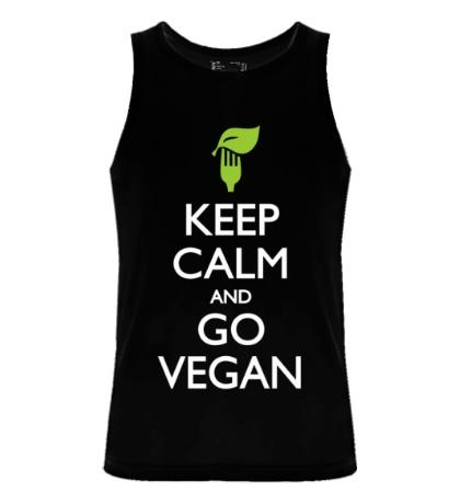 Мужская майка Keep Calm and go Vegan