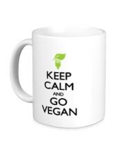 Керамическая кружка Keep Calm and go Vegan