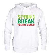 Толстовка с капюшоном Spring break Puerto Mexico